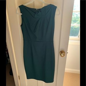 Elie Tahari forest green dress